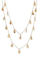 Lauren Ralph Lauren Lauren By Ralph Lauren 'Dolphin Cay' Hammered Drop Necklace Worn Gold