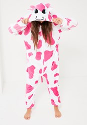 Missguided Pink Cow Onesie