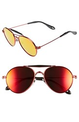 Women's Givenchy 56Mm Aviator Sunglasses Red