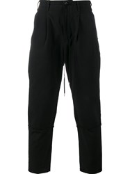 The Viridi Anne Cropped Drawstring Trousers Black