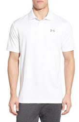 Men's Under Armour 'Performance 2.0' Sweat Wicking Stretch Polo White