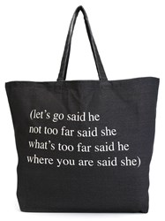 Ann Demeulemeester Oversized Canvas Tote Black