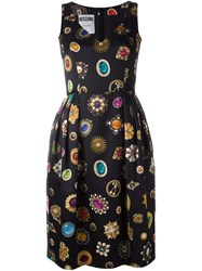 Moschino Jewel Print Cocktail Dress Black