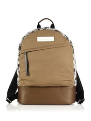 Want Les Essentiels Kastrup Tweed Leather And Canvas Backpack Light Tan