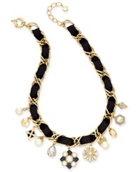 Charter Club Gold Tone Imitation Pearl Charm Necklace Only At Macy's