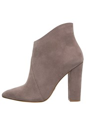 Buffalo High Heeled Ankle Boots Stone Taupe