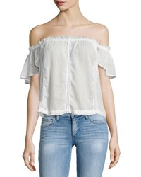 Paige Lucille Off The Shoulder Blouse White