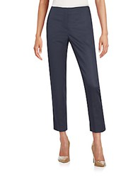 Armani Collezioni Cropped Stretch Cotton Sateen Trousers Ink Well