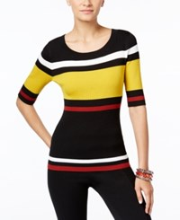 Inc International Concepts Striped Sweater Only At Macy's Polished Gold