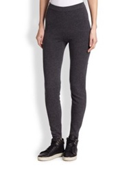 Saks Fifth Avenue Cashmere Track Pants Taupe Black Charcoal Grey