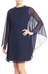 Js Collections Women's Embellished Caped Chiffon Dress