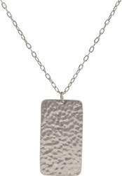 Jennifer Fisher Dog Tag And Oval Link Chain Silver