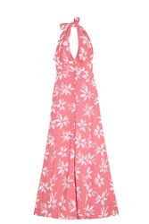 Paul And Joe Halter Flower Dress Pink