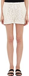 Sea Lace And Faille Track Shorts White Size 0 Us
