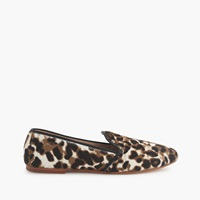 J.Crew Collection Calf Hair Loafers Sienna Black Cat