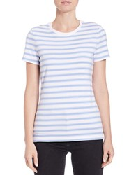 Lord And Taylor Petite Striped Roundneck Tee Purple