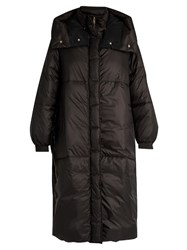 Stella Mccartney Oversized Padded Nylon Coat Black