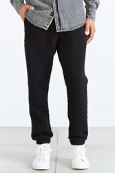 Shades Of Grey By Micah Cohen Geo Quilted Jogger Pant Black