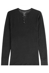Majestic Long Sleeved Linen Top With Buttons Gr. M