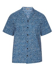 Bottega Veneta Short Sleeved Square Print Shirt