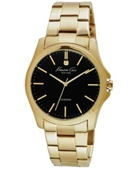 Kenneth Cole New York Men's Diamond Accent Gold Tone Ion Plated Stainless Steel Bracelet Watch 44Mm 10027421