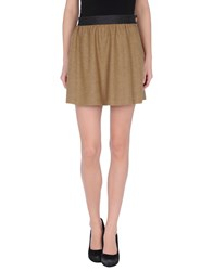 M.Grifoni Denim Skirts Mini Skirts Women Khaki