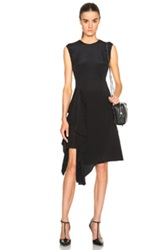 3.1 Phillip Lim Cascading Ruffle And Fringe Dress In Black