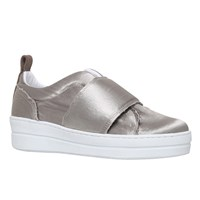 Kurt Geiger Labelle Slip On Flatform Trainers Taupe