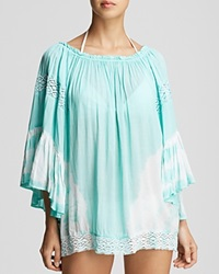 Surf Gypsy Tie Dye Swim Cover Up Tunic Mint