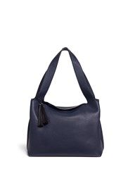 The Row 'Duplex' Horsehair Tassel Leather Tote Blue