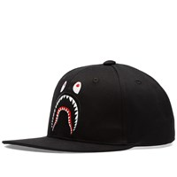 A Bathing Ape Shark Snapback Cap Black