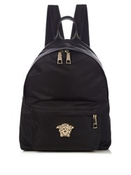 Versace Medusa Head Nylon Backpack Black Gold