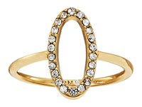 Rebecca Minkoff 0 Shaped Pave Ring Gold Crystal Ring