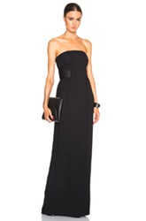 Alexander Wang Strapless Gown With Satin Belt In Black
