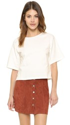 Apiece Apart Short Sleeved Cropped Tee White