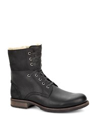 Ugg Larus Sheepskin Lace Up Boots Black