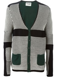 Henrik Vibskov Striped V Neck Cardigan Black