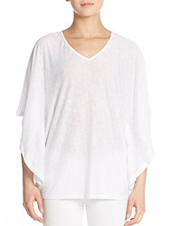 Saks Fifth Avenue Linen Flutter Sleeved Top White