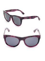 Burberry 52Mm Wayfarer Sunglasses Purple