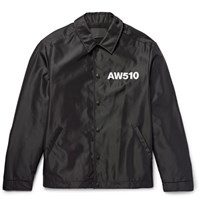 Alexander Wang Printed Shell Coach Jacket Black