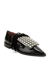Marc By Marc Jacobs Studded Point Toe Oxfords Black