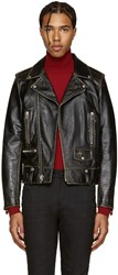 Saint Laurent Black Classic Motorcycle Jacket