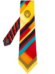 Versace Vintage Patterned Tie Multicolour