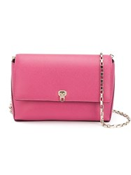 Valextra Small Chain Strap Bag Pink And Purple