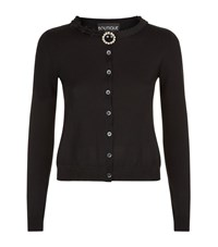 Boutique Moschino Jewel Brooch Cardigan Female Black