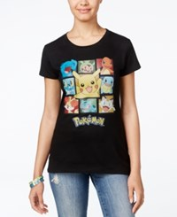 Hybrid Juniors' Pokemon Graphic T Shirt Black