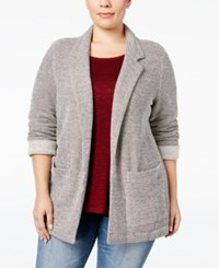 Styleandco. Style Co. Plus Size French Terry Blazer Only At Macy's Deep Black