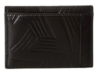 Marni Flower Embossed Leather Card Holder Black Wallet Handbags