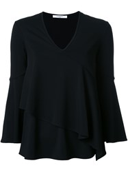 Givenchy Ruffle Detail Blouse Black