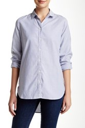 Trovata Button Down Tunic Blue